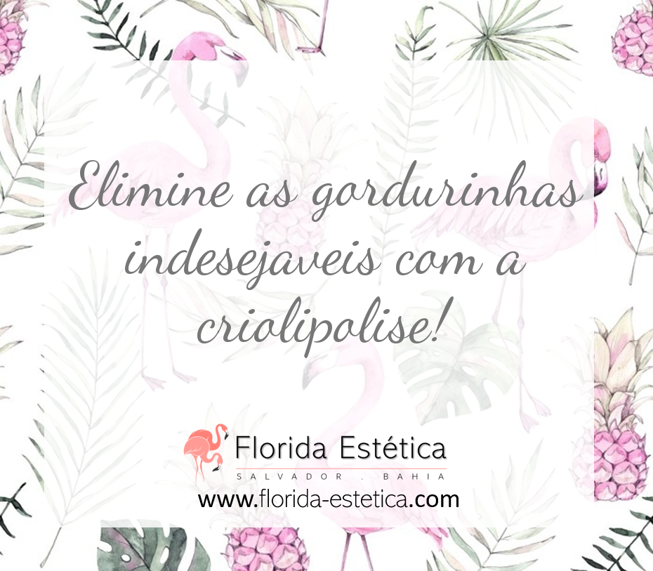 Elimine as gordurinhas indesejaveis com a criolipolise!